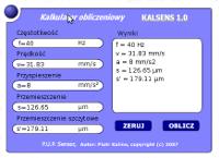 Kalkulator pomiary